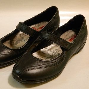 ECCO Mary Janes Walking Shoes Leather Black Sz 10